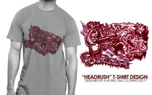 HeadRush T-shirt Design by aMorle