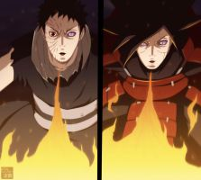 Madara and Obito - Fire-Jutsu by aConst