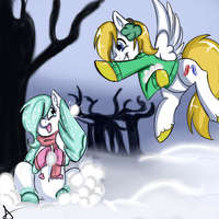 Xmas gift : Snowy Breeze and Kaimanawa by Bally-Vhern