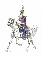 Polish Lancer Regiment Officer 1813 by Stcyr74