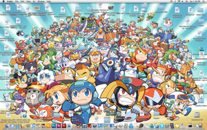 Mega Man Powered Up Desktop by Sonic-chaos