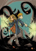 Ron and Hermione by 6vedik