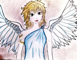 angel anime girl by chrisycox