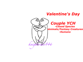 Valentine's Day 'Kisses' Couple YCH (open) by knightrider146