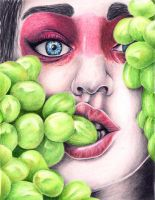 Grapes by JustABeautifulDream