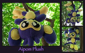 Commission - Aipom Plush by CeltysShadow