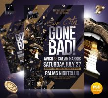 Sin City Gone Bad Party Flyer Template by Party-Flyer