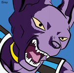 Beerus Pop Art by Brinx-dragonball