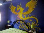 Phoenix Wall Painting :3 by AdrixCosta