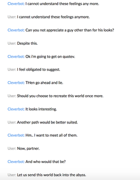 Cleverbot 11 by MistwolfUmbreon
