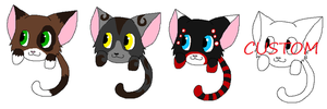 Puff Kitty Adoptables -OPEN- by Twine-Adopts