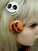 Halloween barrettes by Mirish