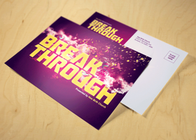Break Through Church Postcard Template by loswl