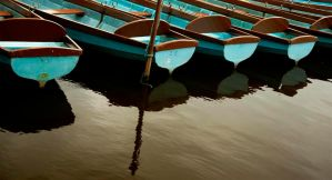 blue boats by awjay