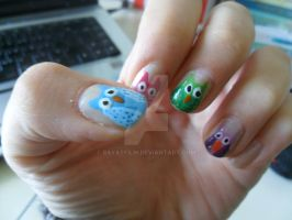Owl Nail Art by bayatfilm