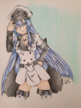 Esdeath Drawing by Athrunzz