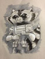 Rocket Raccoon by shaotemp