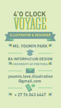 Business card information by UMINluvILLUSTRATION
