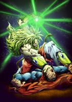 Broly vs Superman color da by marvelmania