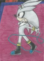 Silver The Hedgehog First Try in colour by Ergonis