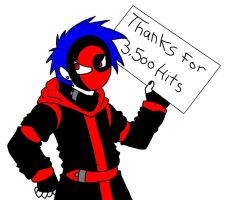 thanks for 3,500 hits by manga-kachazchan