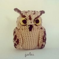 The owl Bertuccio Amigurumi plush by Tofe-lai
