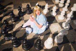 Alice in Wonderland chess fairytale cosplay by chamellephoto