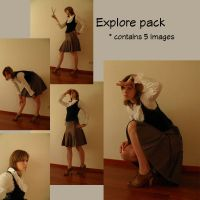 Explore Pack by tamaraR-stock