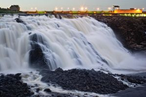 Hidroelectric Waterfall by Jase036
