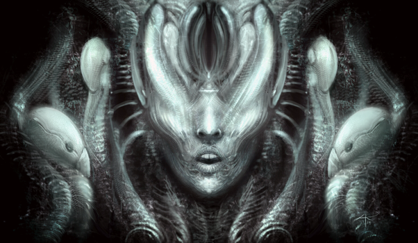 Giger tribute by kalivana