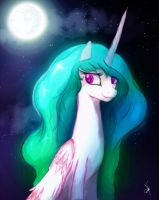 Sweet Lady at Night by ZidaneMina