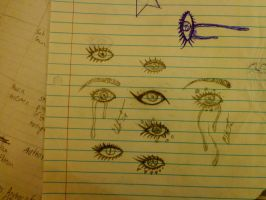 Eye Sketches dump by little-demons