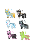 wolfehs 3 adoptables -DRAW ADO by Scribbel01