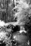 Infrared - Small Waterfall by Ceardach
