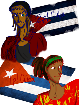 Collab: 1P and 2P Cuba by blackandredwolf96