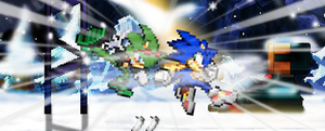 .:The Showdown:. ~Sonic Vs Scourge~ by FrostBurned-Soul