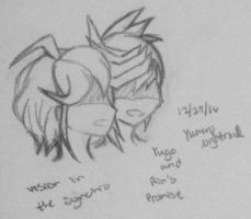 Vision in the Synchro: Yugo and Rin's promise by YumenoNightraid