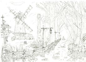 windmill swamp by lordoffog