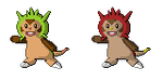 Chespin Sprites by Brookreed
