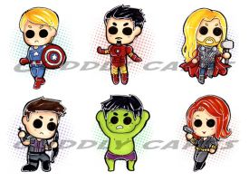Avengers Movie - Buttons by CuddlyCapes