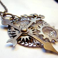 Dieselpunk Machine Pendant by SteamSociety