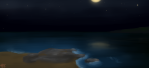 Sea by night by CreepyCheeseCookie