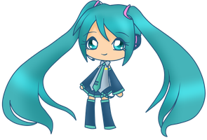 Miku Hatsune~Chibi by AndroidAnnie