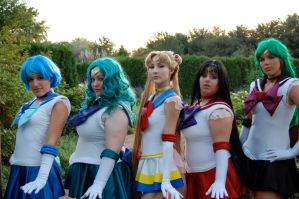 .:SM Sailor Lineup:. by cosplay-muffins