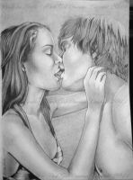 The Kiss by DarkGirlDrawings
