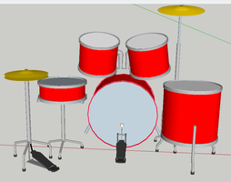 Sketchup drums 2 by turnbuckle