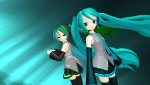 Two Sides - Miku Hatsune by vocaloidandlegolover