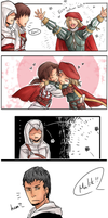 Altair X Malik Comic (Coloured) ~ Jealous? by Butterfingas