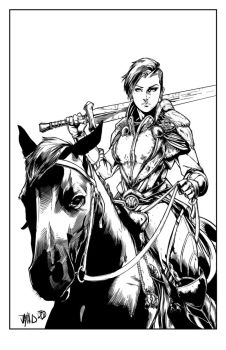 Lady Knight Inks by BDStevens