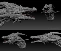 First 3D Dragon by mythori